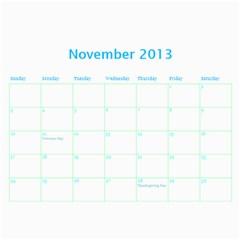 Calendar By Estee   Wall Calendar 11  X 8 5  (18 Months)   Dbio8bm9tsoj   Www Artscow Com Nov 2013