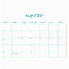 Calendar By Estee   Wall Calendar 11  X 8 5  (18 Months)   Dbio8bm9tsoj   Www Artscow Com May 2014