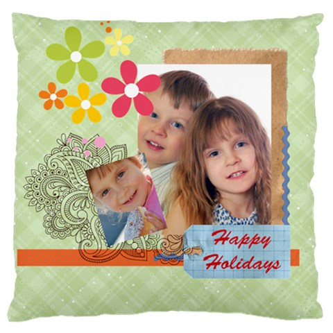 Kids Of Love Family By Jo Jo   Large Cushion Case (one Side)   0rtxlky3meje   Www Artscow Com Front