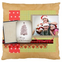 Merry Christmas By Jo Jo   Large Cushion Case (two Sides)   G9xtbvhc422v   Www Artscow Com Back