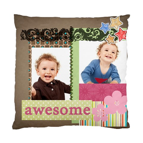 Flower Kids By Jo Jo   Standard Cushion Case (one Side)   Qmy5j2eftmbz   Www Artscow Com Front