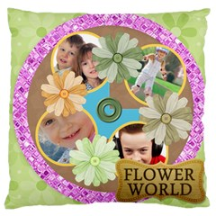 Flower Kids By Jo Jo   Large Cushion Case (two Sides)   Kqppucyniudc   Www Artscow Com Front