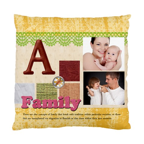Flower Kids By Jo Jo   Standard Cushion Case (one Side)   K7ae16hteqbv   Www Artscow Com Front
