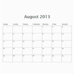 Cal13nana By Kristie 74   Wall Calendar 11  X 8 5  (12 Months)   E527itlex1m2   Www Artscow Com Aug 2013