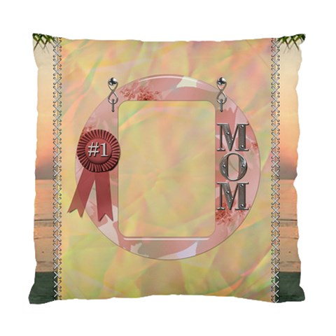 Number 1 Mom Cushion Case (1 Sided) By Lil    Standard Cushion Case (one Side)   Zhyc7trf4u0m   Www Artscow Com Front