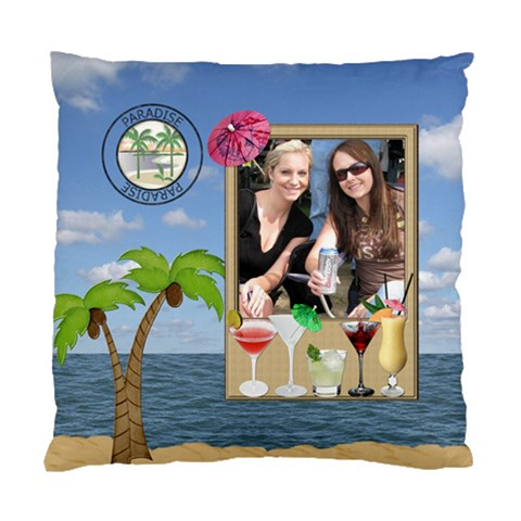 Tropical Cushion Case (1 Sided) By Lil    Standard Cushion Case (one Side)   Ugkz09uqykqu   Www Artscow Com Front