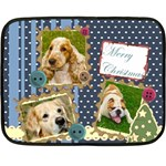 merry christmas - Fleece Blanket (Mini)