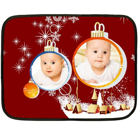 Merry Christmas By Wood Johnson   Fleece Blanket (mini)   P3ta2yb5q22o   Www Artscow Com 35 x27 Blanket