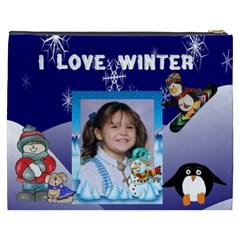I Love Winter Cosmetic Bag (xxxl) By Kim Blair   Cosmetic Bag (xxxl)   Mnrx8tz10ca8   Www Artscow Com Back