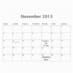 Papa Calander By Becca Dubow   Wall Calendar 11  X 8 5  (12 Months)   W0g8xwoy7enq   Www Artscow Com Nov 2013