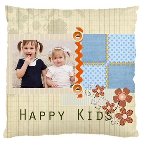 Flower Kids By Joely   Large Cushion Case (one Side)   Riicmkihcg43   Www Artscow Com Front