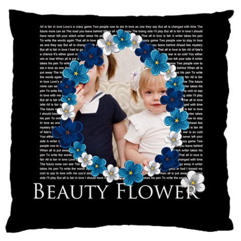 Flower Kids By Joely   Large Cushion Case (one Side)   Rkw1b47sxvj0   Www Artscow Com Front