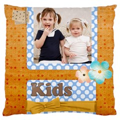 Flower Kids By Joely   Large Cushion Case (two Sides)   6dvyhpo156ww   Www Artscow Com Front