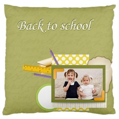 Flower Kids By Joely   Large Cushion Case (two Sides)   Cogzcmr0l4tc   Www Artscow Com Front