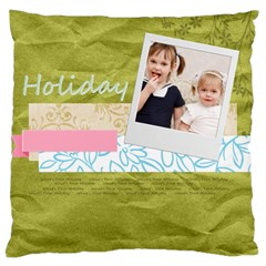 Flower Kids By Joely   Large Cushion Case (two Sides)   Jxwztxgt95ey   Www Artscow Com Front
