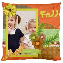 Flower Kids By Joely   Large Cushion Case (two Sides)   Aztxavmw18it   Www Artscow Com Front
