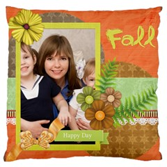 Flower Kids By Joely   Large Cushion Case (two Sides)   Aztxavmw18it   Www Artscow Com Back