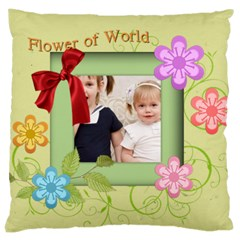 Flower Kids By Joely   Large Cushion Case (two Sides)   Tp6rtge4mxxd   Www Artscow Com Front
