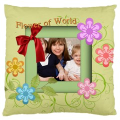 Flower Kids By Joely   Large Cushion Case (two Sides)   Tp6rtge4mxxd   Www Artscow Com Back