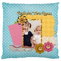 Flower Kids By Joely   Large Cushion Case (two Sides)   2w3q6uzybp2y   Www Artscow Com Back