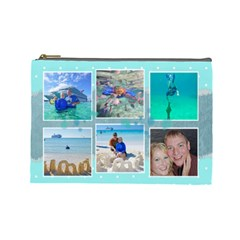 Ocean Vacation Cosmetic Bag Large By Digitalkeepsakes   Cosmetic Bag (large)   0z3jmn9hsfoy   Www Artscow Com Front