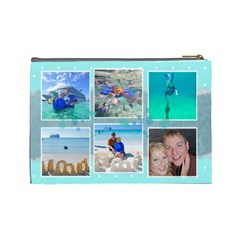 Ocean Vacation Cosmetic Bag Large By Digitalkeepsakes   Cosmetic Bag (large)   0z3jmn9hsfoy   Www Artscow Com Back