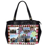 Argyle Flower Office Handbag 2 Sides - Oversize Office Handbag (Two Sides)