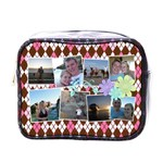 Argyle Flower Mini Toiletry Bag - Mini Toiletries Bag (One Side)