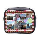 Argyle Flower Mini Toiletry Bag 2 Sides - Mini Toiletries Bag (Two Sides)