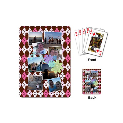 Flower Argyle Playing Cards By Digitalkeepsakes   Playing Cards (mini)   Zeadbk7sj3e1   Www Artscow Com Back