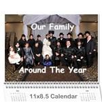 Calendar for Mommy Lax - Wall Calendar 11  x 8.5  (12-Months)