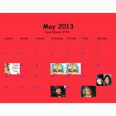 Calendar For Mommy Lax By Frumy   Wall Calendar 11  X 8 5  (12 Months)   Z1t2ee0qid6m   Www Artscow Com May 2013