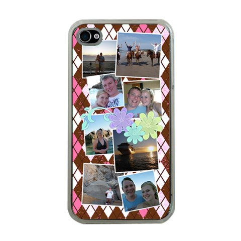 Flower Argyle By Digitalkeepsakes   Apple Iphone 4 Case (clear)   Vq7dp2oq53mv   Www Artscow Com Front