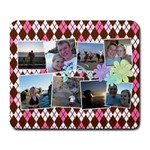 Flower Argyle - Collage Mousepad