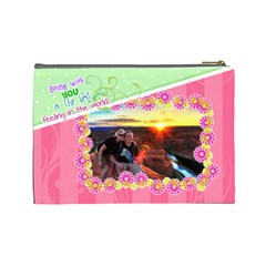 Being With You Large Cosmetic By Digitalkeepsakes   Cosmetic Bag (large)   L11wrytigqpy   Www Artscow Com Back