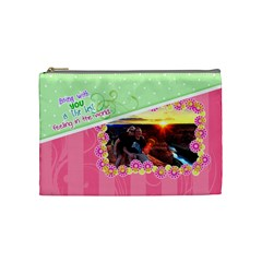 Being With You Medium Cosmetic By Digitalkeepsakes   Cosmetic Bag (medium)   Td52jioxecgt   Www Artscow Com Front