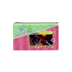 Being With You Small Cosmetic By Digitalkeepsakes   Cosmetic Bag (small)   Or93r0dkn2eo   Www Artscow Com Front