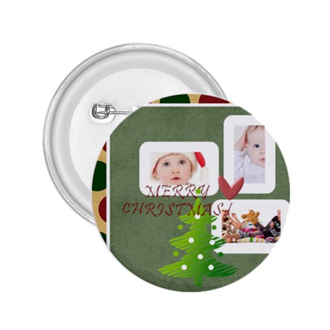 Merry Christmas By Betty   2 25  Button   Yu8ojv75a8qa   Www Artscow Com Front