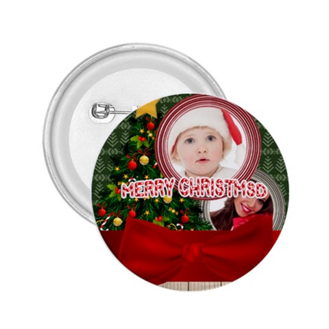 Merry Christmas By Betty   2 25  Button   Pg7olpkh33nx   Www Artscow Com Front