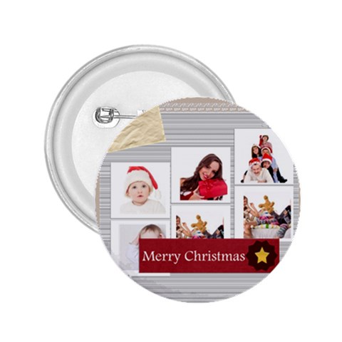 Merry Christmas By Betty   2 25  Button   Ta5olopp4oev   Www Artscow Com Front