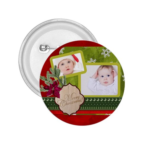 Merry Christmas By Betty   2 25  Button   0bl3ua4ges2y   Www Artscow Com Front