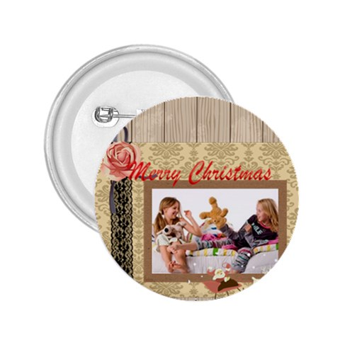 Merry Christmas By Betty   2 25  Button   F6j0kx00vcu6   Www Artscow Com Front