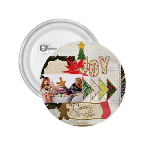 Merry Christmas By Betty   2 25  Button   Ig4hvjfl3pvq   Www Artscow Com Front