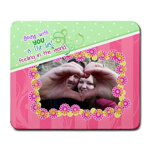 Being With You   Large Mousepad By Digitalkeepsakes   Large Mousepad   H14pda534jxr   Www Artscow Com Front