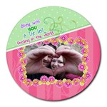 Being with you - Collage Round Mousepad
