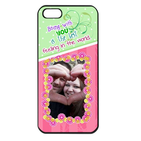 Being With You  Iphone 5 Case By Digitalkeepsakes   Apple Iphone 5 Seamless Case (black)   Y7t9io40fgid   Www Artscow Com Front