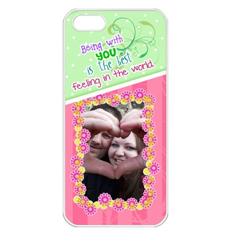 Being With You  Iphone 5 Case By Digitalkeepsakes   Apple Iphone 5 Seamless Case (white)   Vop93hizx41y   Www Artscow Com Front
