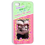 Being with you- Iphone 4/4s case - Apple iPhone 4/4s Seamless Case (White)