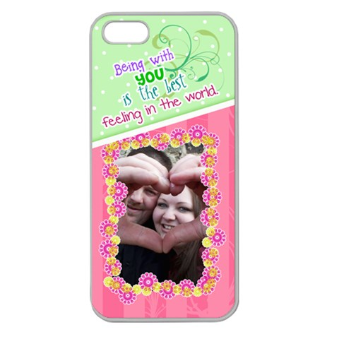 Being With You  Iphone 5 Case By Digitalkeepsakes   Apple Seamless Iphone 5 Case (clear)   P9mngjzsoo6v   Www Artscow Com Front