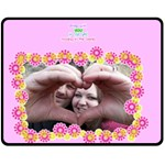 Being with you - Medium Fleece Blanket - Fleece Blanket (Medium)